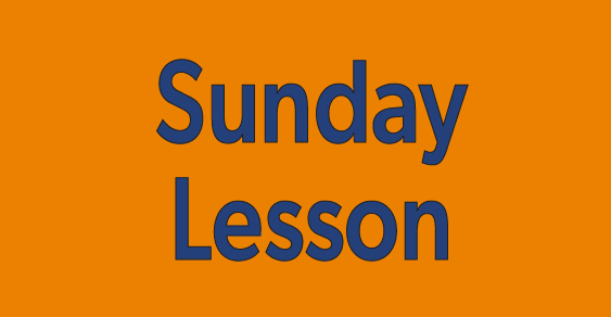 Sunday Lesson