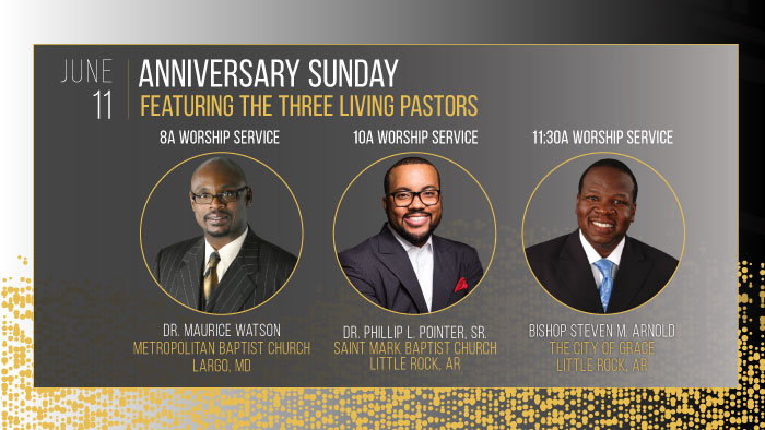 125th Anniversary - Anniversary Sunday with the 3 Living Pastors